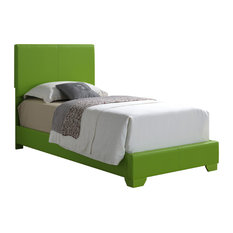Glory Furniture - Bed, Green, Twin - Panel Beds