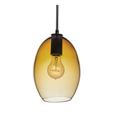hammers and heels hand blown amber glass pendant light pendant lighting blown glass pendant lighting