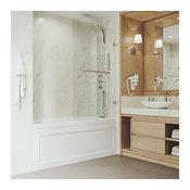 VIGO Rialto Bathtub Door With Clear Glass, Chrome