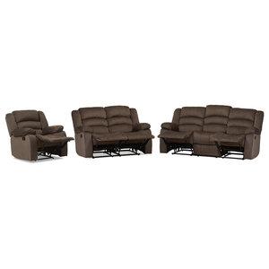 Enjoyable Harmony Series Black Leather Reclining Sofa Set Bt 70597 Ncnpc Chair Design For Home Ncnpcorg
