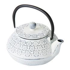 Cream Cast Iron Detail Teapot