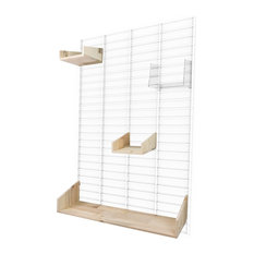 Fency Wall Rack, Pallet Wood Shelves, Large, White