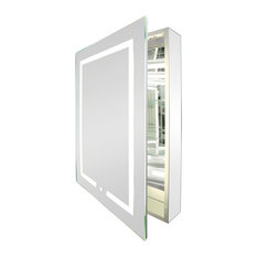 "24""x32"" Kent Tall Medicine Cabinet With LED Lighting and Defogger, Left Swing"