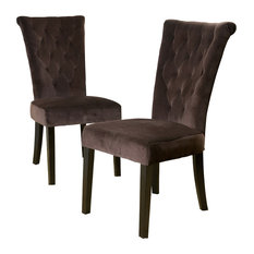 gdfstudio paulina dining chairs chocolate brown set of 2 dining chairs