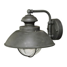 "Vaxcel Harwich 10"" Outdoor Wall Light, Textured Gray"