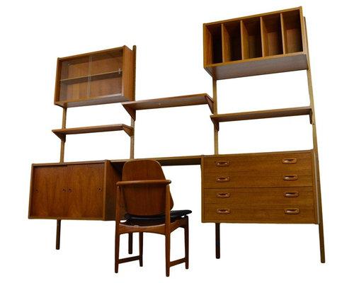 mid century danish teak shelving unit ps system bookcases