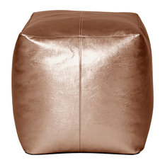 Howard Elliott Luxe Bronze Howard Elliott Square Pouf