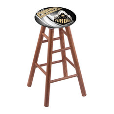 Oak Extra Tall Bar Stool Medium Finish With Purdue Seat 36-inch