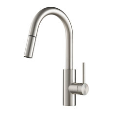 Kraus USA, Inc. - Kraus Spot Free Oletto Single Handle Pull Down Kitchen Faucet - Kitchen Faucets