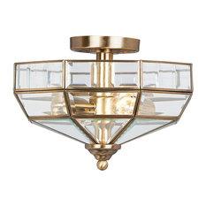Old Park Ceiling Light, Antique Brass