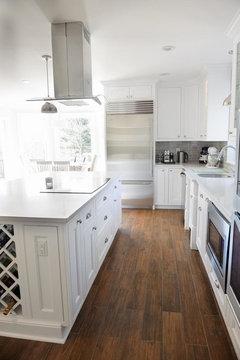 who loves their porcelain 'wood' floor tile?