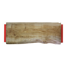 Extra Large Natural Oak Chopping Board, Pepper Red