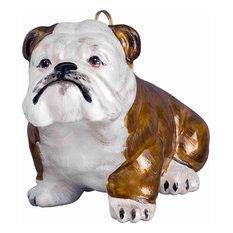 Bulldog Brown and White Ornament