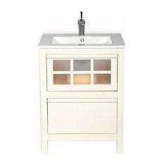"Terranova Bathroom Vanity, Ivory, 32"""