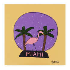 Brian Nash 'Miami Snow Globe' Canvas Art