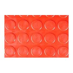 "12""x12"" Nitro Garage Coin Pattern Interlocking Flooring, Set of 24, Victory Red"