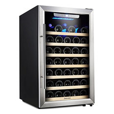 Kalamera Inc Wine Cooler 50 Bottle Single Zone Refrigerator With Digital Temperature Beer