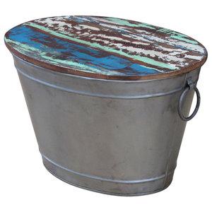 vidaXL Solid Reclaimed Wood Bucket Coffee Table