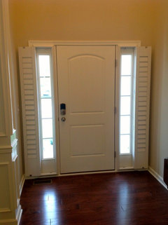Entry Door Side Lights Mini Blinds Or