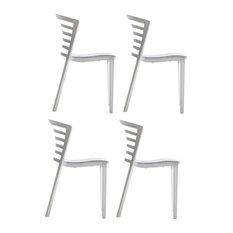 Venezia Dining Chairs, Set of 4, White