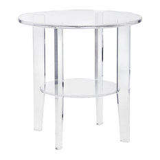 Benzara, Woodland Imprts, The Urban Port - Estelle Acrylic Accent Table - Side Tables and End Tables