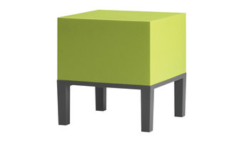 Quinze & Milan Primary Pouffe 01, Lime Green