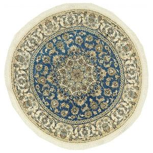 Nain 9La Persian Rug, Round Hand-Knotted, 156x156 cm