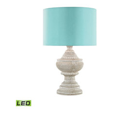 Dimond Kokopo Outdoor LED Table Lamp With Sea Green Shade