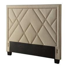 Modus Geneva Upholstered California King Panel Headboard, Powder