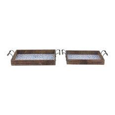 Rectangular Lattice Patterned Trays, Set of 2