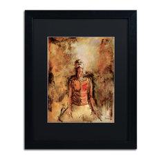"""Joarez 'Totally Surrender' Framed Art, Black Frame, 16""""x20"""", Black Matte"""