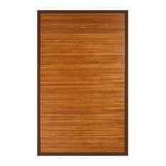 Jolene Bamboo Area Rug, Brown, 2'x3'