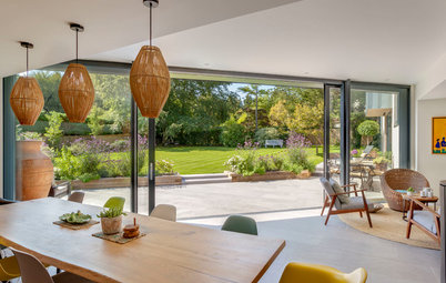 Houzz Tour: A Clever Angled Extension Opens Up a 1980s House