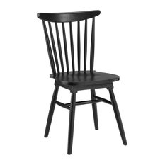 Elm Wood Kitchen And Dining Room Side Chair Black