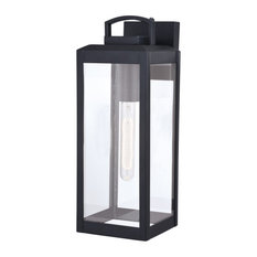Kinzie 6 in. W Outdoor Wall Light Textured Black by Vaxcel International T0567