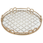 """A&B HOME - Tray, 18x2"""" - Serve snacks, meals, drinks and more in style with this round glass platter, an elegant and durable serving piece."""