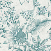 Kenitra Cream Botanical Wallpaper Bolt