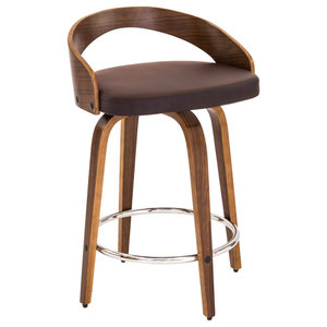 Lumi Source Grotto Counter Stool, Brown