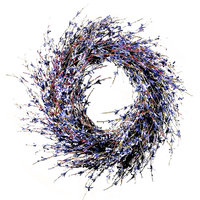 Faux Dried Lavender Floral Door Wreath