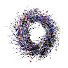 Home Garden Collections - Faux Dried Lavender Floral Door Wreath - Wreaths and Garlands  sc 1 st  Houzz & 50 Most Popular Farmhouse Wreaths and Garlands for 2018 | Houzz