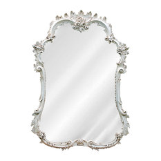 hickory manor frenchstyle mirror old world white wall mirrors