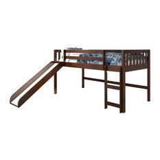 Donco Kids Lovine Low-Loft Bed, Cappucino, Twin