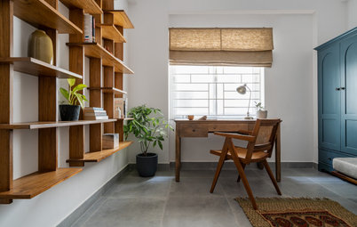 India Houzz Tour: Warm Wood & Rattan in a Pared-Down Apartment