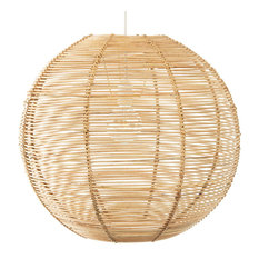 Palau Continuous Weave Wicker Ball Pendant Lamp, Large, Natural