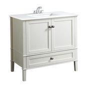 Contemporary Bath Vanity in Soft White