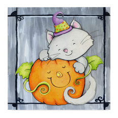 "Valarie Wade 'Pumpkin Hugs' Canvas Art, 35""x35"""
