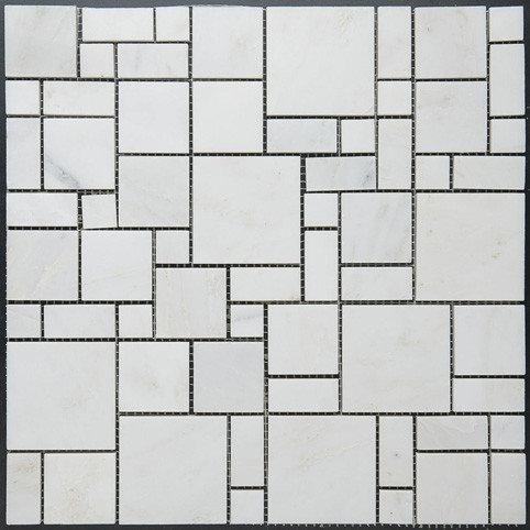 Square Pattern Marble Mosaic - Tile