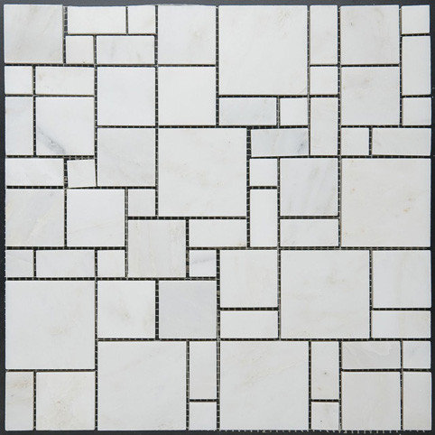 Square Pattern Marble Mosaic - Tile