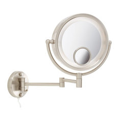 Wall-Mounted Lighted Makeup Mirrors | Houzz