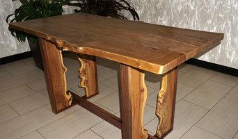 """Обеденный стол """"Рамка"""" из карагача"""